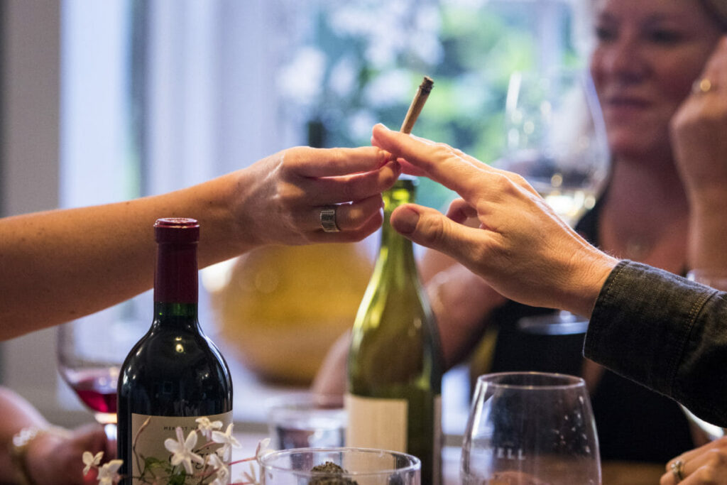 weed and wine